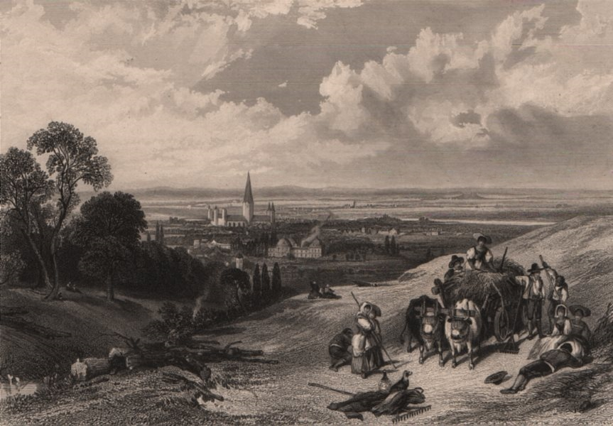Associate Product BONN. Town view showing Bonner Münster / Minster. Germany. Rhine Valley 1875