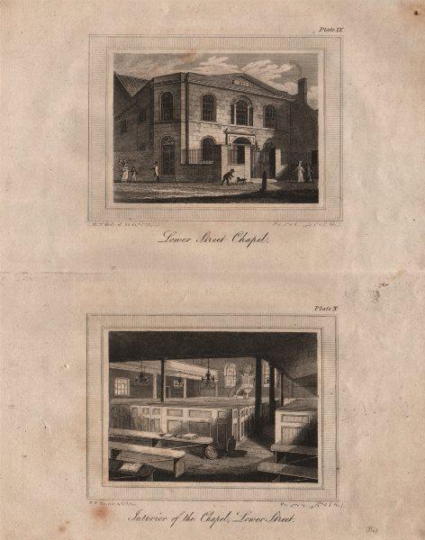 Associate Product ISLINGTON PARISH. Lower Street (now Essex Road) Chapel. Interior & exterior 1823