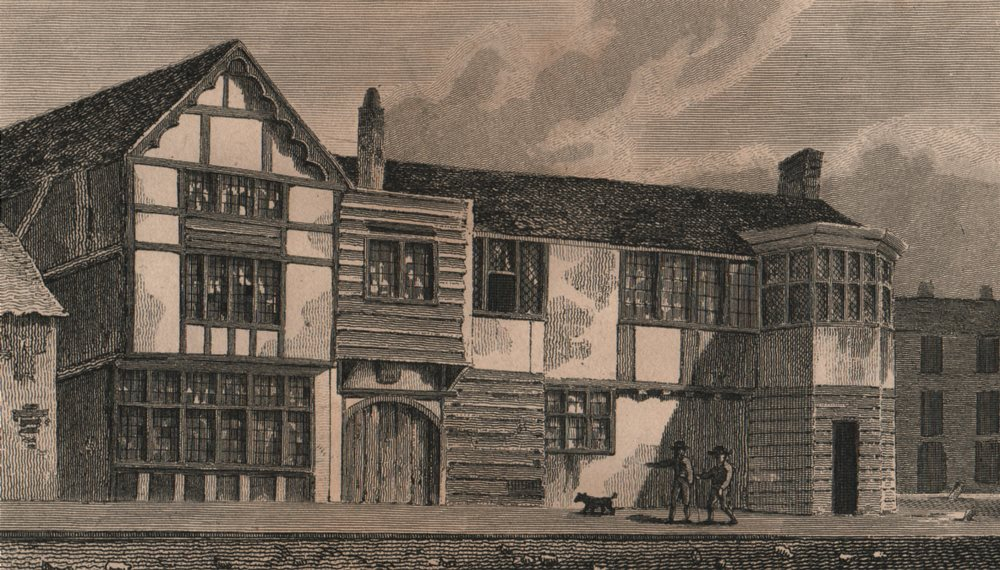 Associate Product ISLINGTON PARISH. Old building formerly in Lower Street (now Essex Road)  1823