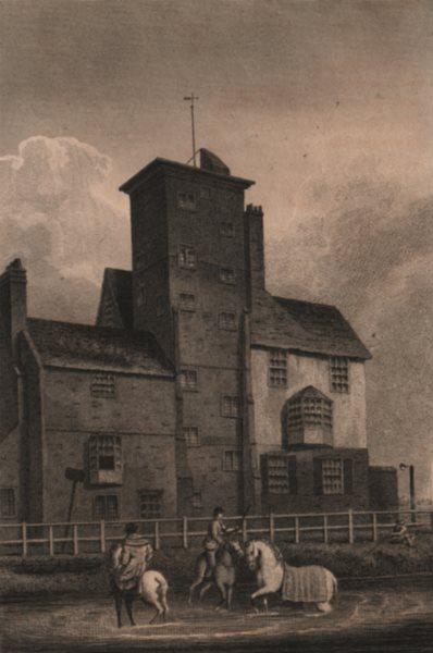 Associate Product ISLINGTON PARISH. Canonbury Tower, Canonbury Place 1823 old antique print