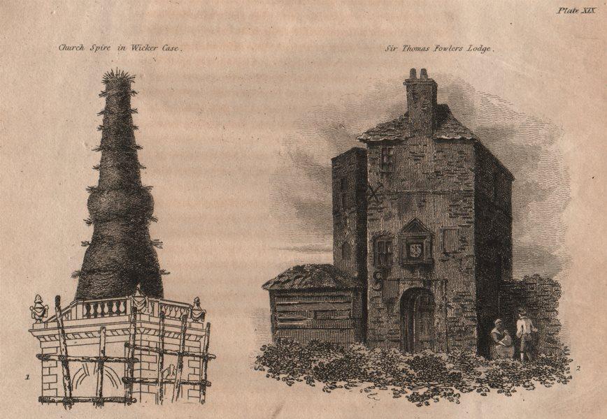 Associate Product ISLINGTON PARISH. Church Spire in Wicker Case; Sir Thomas Fowlers Lodge 1823