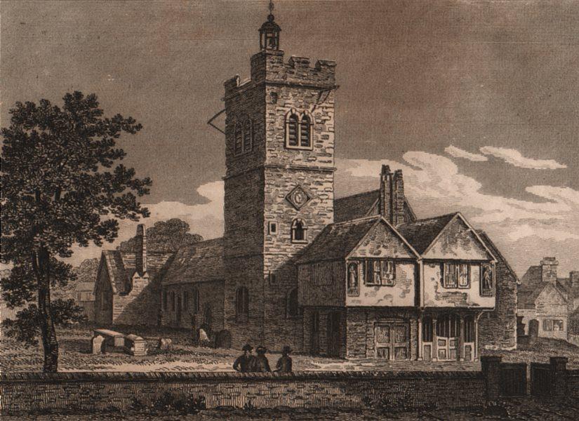 Associate Product ISLINGTON PARISH. Old St Mary's Church, Upper Street, in 1750. WINKLES 1823