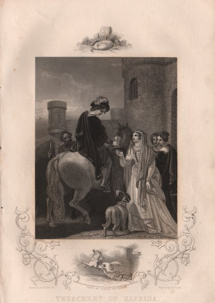 Associate Product BRITISH HISTORY. Treachery of Elfrida. Death of Edward the Martyr. TALLIS 1853