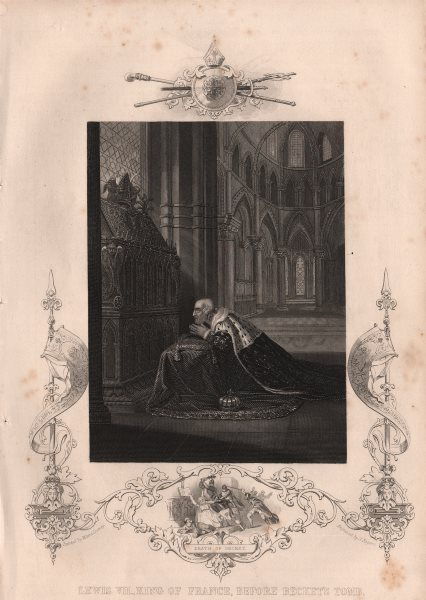 Associate Product FRANCE. Lewis VII. King of France, before Becket's Tomb. Death of Becket 1853