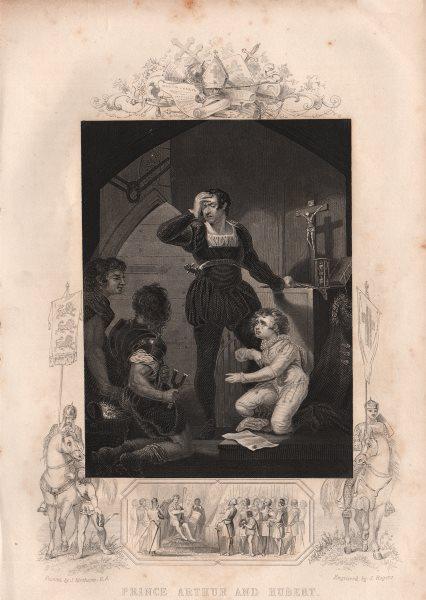 Associate Product BRITISH HISTORY. Prince Arthur and Hubert. TALLIS 1853 old antique print