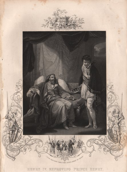 Associate Product BRITISH HISTORY. Henry IV reproving Prince Henry. TALLIS 1853 old print