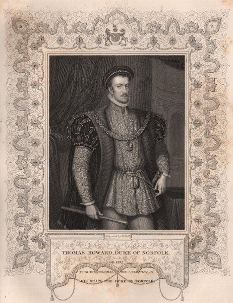 Associate Product BRITISH HISTORY. Thomas Howard, Duke Of Norfolk. TALLIS 1853 old antique print