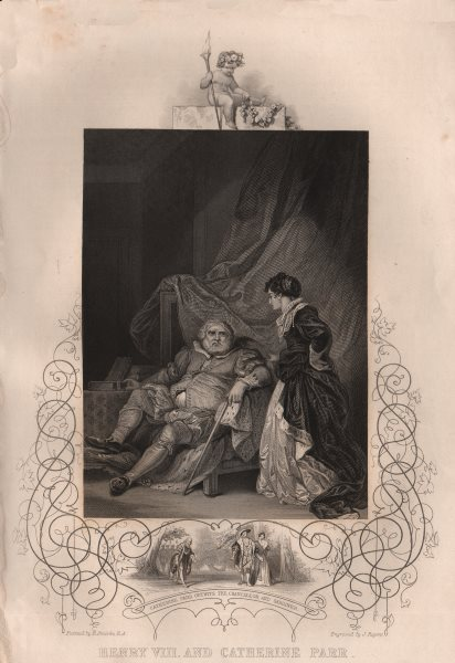 Associate Product HENRY VIII. with Catherine Parr. Outwitting Chancellor & Gardiner. TALLIS 1853
