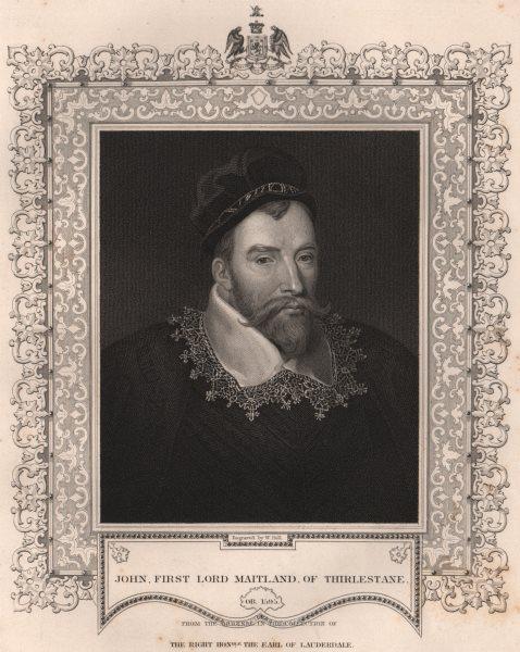 Associate Product BRITISH HISTORY. John, first Lord Maitland, of Thirlestane. TALLIS 1853 print