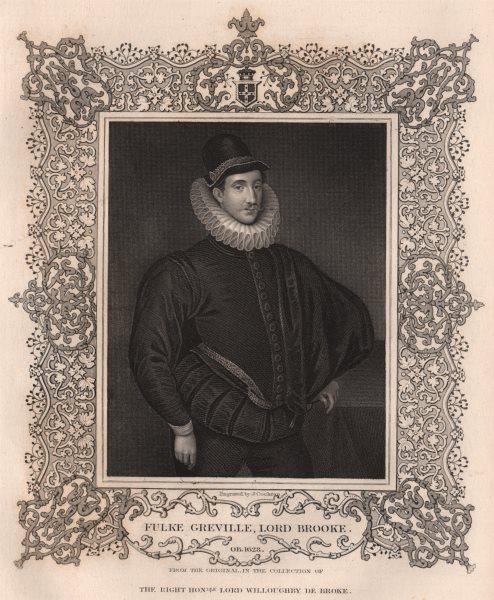 Associate Product BRITISH HISTORY. Fulke Greville, Lord Brooke. TALLIS 1853 old antique print