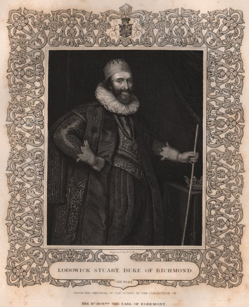 Associate Product BRITISH HISTORY. Lodowick Stuart Duke Of Richmond. TALLIS 1853 old print