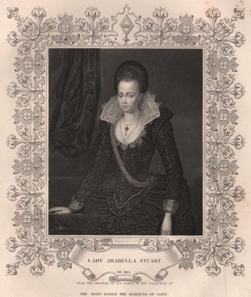 Associate Product BRITISH HISTORY. Lady Arabella Stuart. TALLIS 1853 old antique print picture