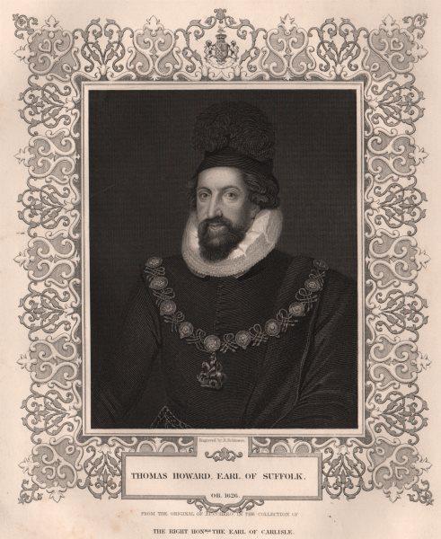 Associate Product BRITISH HISTORY. Thomas Howard, Earl Of Suffolk. TALLIS 1853 old antique print
