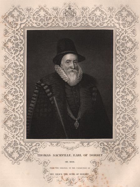 Associate Product BRITISH HISTORY. Thomas Sackville, Earl Of Dorset. TALLIS 1853 old print