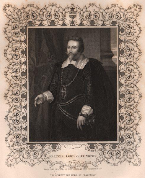 Associate Product BRITISH HISTORY. Francis, Lord Cottington. TALLIS 1853 old antique print