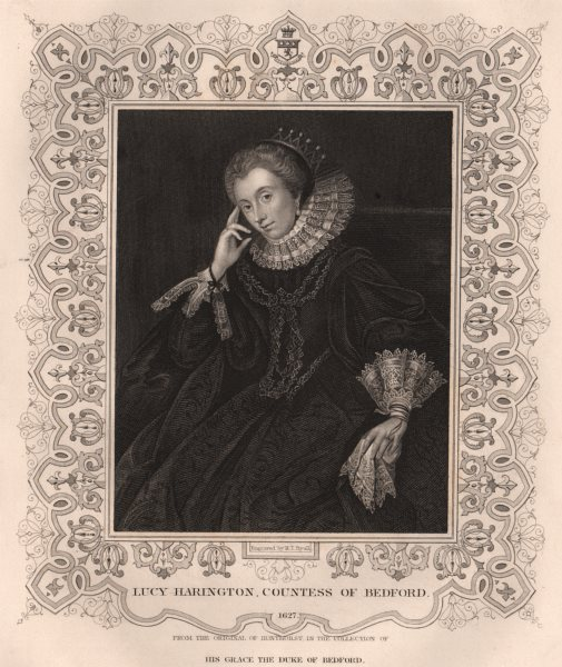 Associate Product BRITISH HISTORY. Lucy Harington, Countess of Bedford. TALLIS 1853 old print