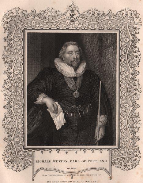BRITISH HISTORY. Richard Weston, Earl Of Portland. TALLIS 1853 old print
