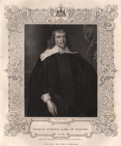 Associate Product BRITISH HISTORY. Francis Russell, Earl Of Bedford. TALLIS 1853 old print