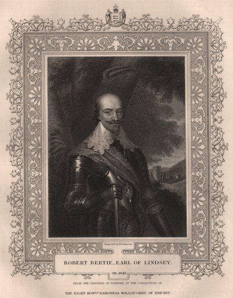 Associate Product BRITISH HISTORY. Robert Bertie, Earl Of Lindsey. TALLIS 1853 old antique print