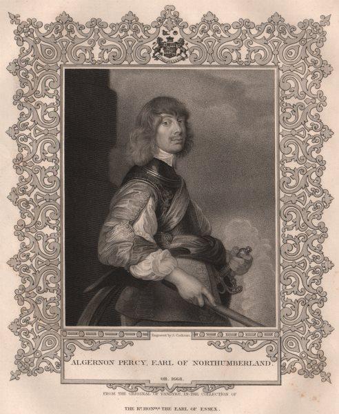 Associate Product BRITISH HISTORY. Algernon Percy, Earl Of Northumberland. TALLIS 1853 old print
