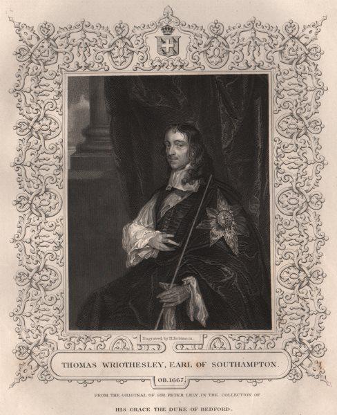 Associate Product BRITISH HISTORY. Thomas Wriothesley, Earl Of Southampton. TALLIS 1853 print