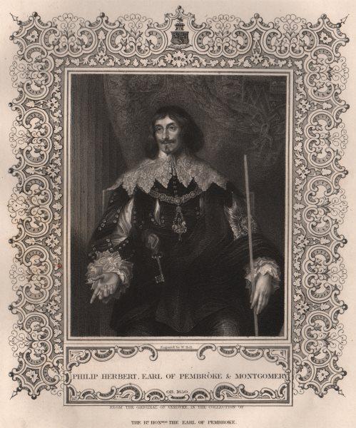 Associate Product BRITISH HISTORY. Philip Herbert, Earl Of Pembroke & Montgomery. TALLIS 1853