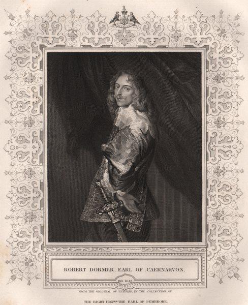 Associate Product BRITISH HISTORY. Robert Dormer, Earl Of Caernarvon. TALLIS 1853 old print