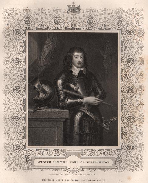 BRITISH HISTORY. Spencer Compton, Earl Of Northampton. TALLIS 1853 old print