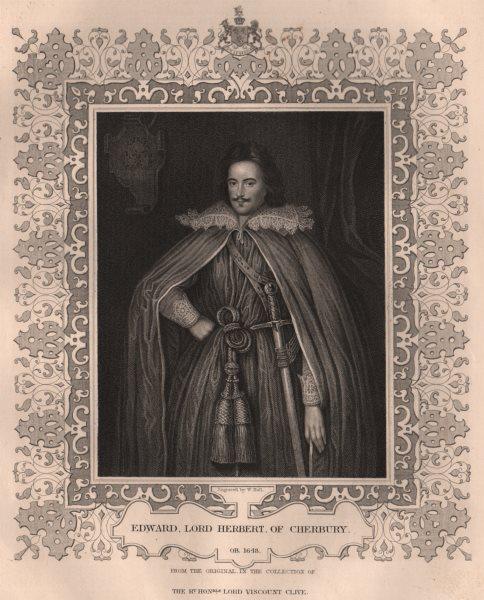 Associate Product BRITISH HISTORY. Edward, Lord Herbert, of Cherbury. TALLIS 1853 old print