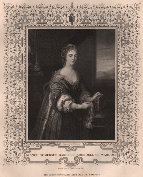Associate Product BRITISH HISTORY. Blanch Somerset, Baroness Arundell of Wardour. TALLIS 1853