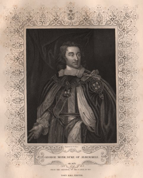 Associate Product BRITISH HISTORY. George Monk, Duke Of Albemarle. TALLIS 1853 old antique print
