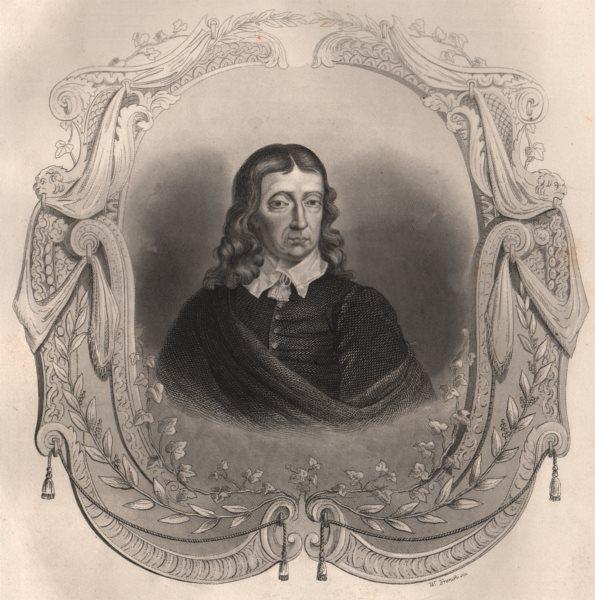 Associate Product BRITISH HISTORY. Milton. TALLIS 1853 old antique vintage print picture