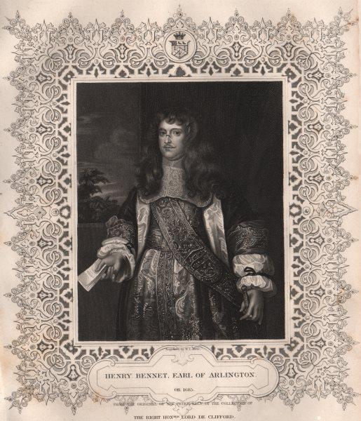 Associate Product BRITISH HISTORY. Henry Bennet, Earl Of Arlington. TALLIS 1853 old print