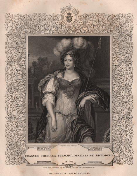 Associate Product BRITISH HISTORY. Frances Theresa Stewart, Duchess Of Richmond. TALLIS 1853