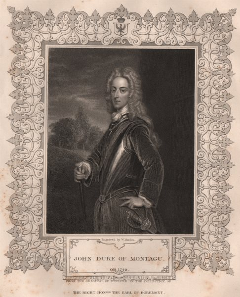 BRITISH HISTORY. John, Duke Of Montagu. TALLIS 1853 old antique print picture
