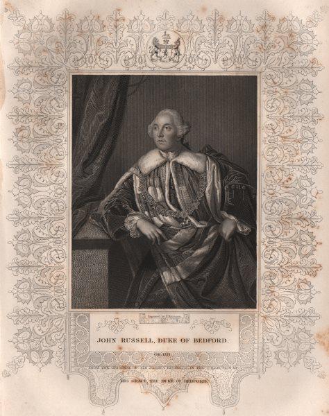 Associate Product BRITISH HISTORY. John Russell, Duke Of Bedford. TALLIS 1853 old antique print