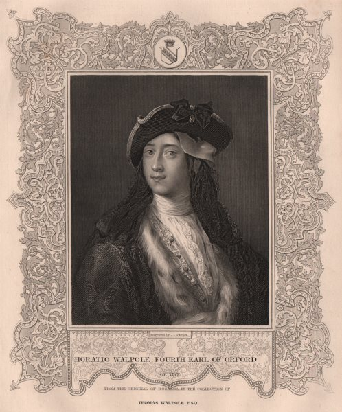 Associate Product BRITISH HISTORY. Horatio Walpole, fourth Earl Of Orford. TALLIS 1853 old print
