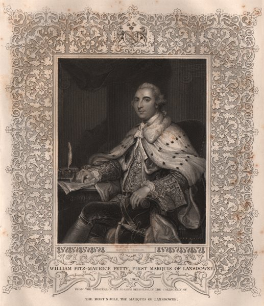 Associate Product BRITISH HISTORY. William Fitz-Maurice Petty, first Marquis Of Lansdowne 1853