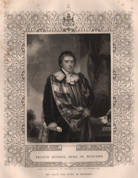 Associate Product BRITISH HISTORY. Francis Russell, Duke Of Bedford. TALLIS 1853 old print