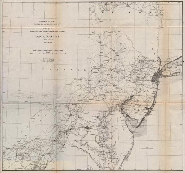Associate Product USA EAST SURVEY.Chesapeake Bay Delaware Bay Maryland Pennsylvania.USCGS 1889 map