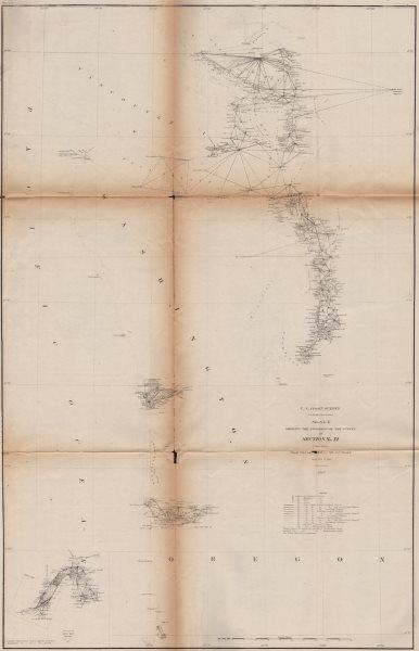 Associate Product WASHINGTON COAST. Columbia River Seattle Tacoma Puget Sound. USCGS 1871 map