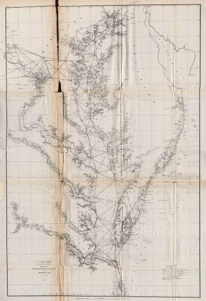 Associate Product CHESAPEAKE BAY SURVEY. Washington DC Baltimore Maryland Delaware. USCGS 1870 map