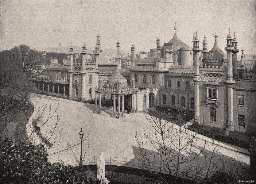 BRIGHTON. The Pavilion. Sussex 1900 old antique vintage print picture