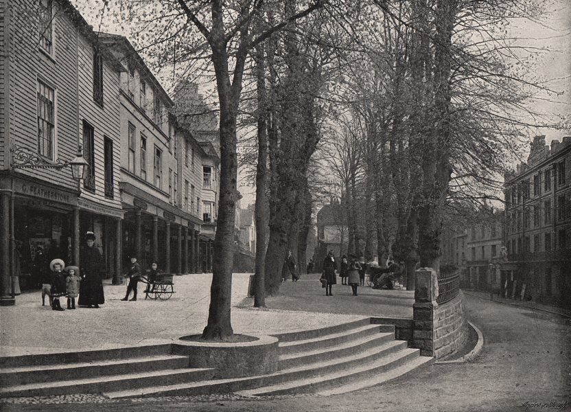 Associate Product TUNBRIDGE WELLS. The Pantiles. Kent. Children in 19c dress 1900 old print