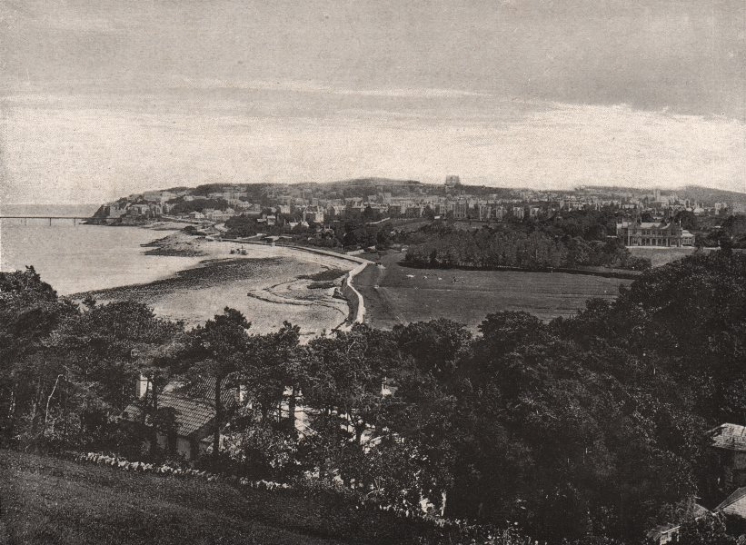 Associate Product SOMERSET. Clevedon 1900 old antique vintage print picture