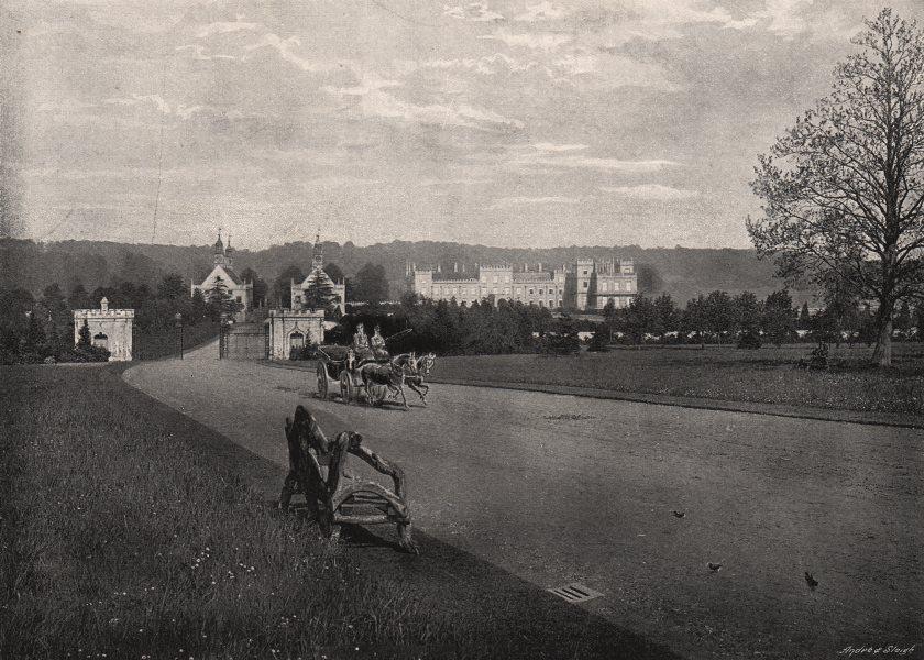 Associate Product NOTTINGHAMSHIRE. Welbeck Abbey 1900 old antique vintage print picture