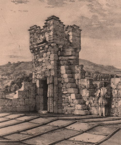 Associate Product HADDON HALL. Watch tower. Derbyshire 1836 old antique vintage print picture