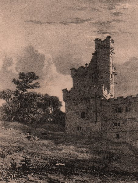 HADDON HALL. In the Eagle tower. Derbyshire 1836 old antique print picture