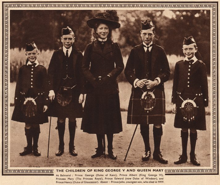 Associate Product KING GEORGE V & QUEEN MARY'S CHILDREN. George Albert Mary Edward Henry 1937