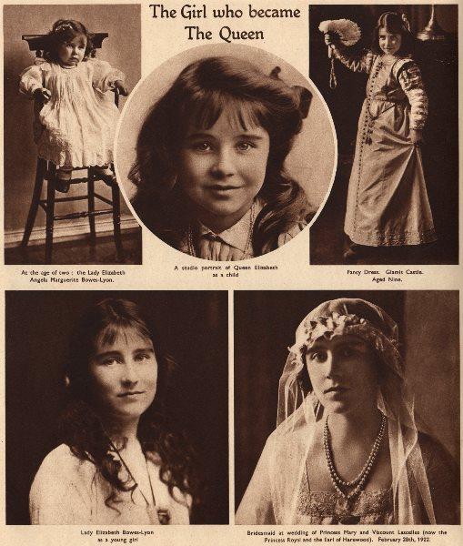 Associate Product QUEEN ELIZABETH QUEEN MOTHER. Lady Elizabeth Angela Marguerite Bowes-Lyon 1937